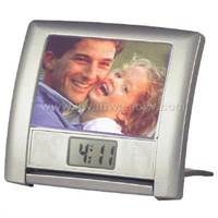 Attractive LCD Talking Clock with Real and Chime Report in Photo Frame Design