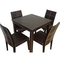 Faux Leather Dining Set