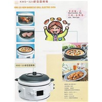 Electric oven with barbecue grill