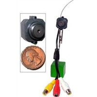 The Worlds Smallest Wireless/Wire Color Pinhole Camera with Audio