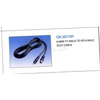 9.5mm TV Male to RCA Male 3C2V cable