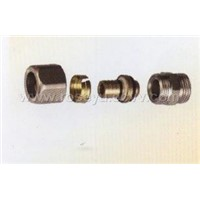 folding brass fittings for pex-all-pex pipe (JY-2031)