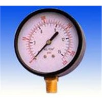 Dry pressure gauge with steel case