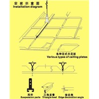 Metal Ceiling Suspension Part (Triangle Keel)