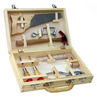 8-pcs tool set with wooden carry case