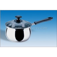 Sty No: CS-121 Sandwich-Bottom Curve Milk Pot/Single Handle