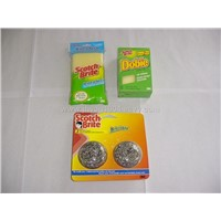sponge scourer ,cleaning pad,stainless steel scourer