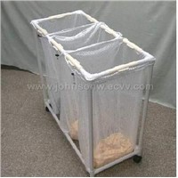 Rolling Laundry Sorter With 3 Nylon Bag