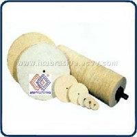 Conventional buffing wheel, sisal buffing wheel, natural and treated