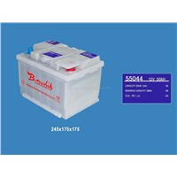 DIN Dry Charged Car Battery (35Ah--105Ah)