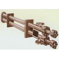 Lengthways fin tube heat exchanger