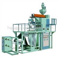 Rotary machine head polypropylene film blowing machine set