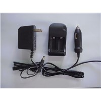 CR123A charger with car cable and adapter