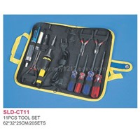 Sell 11pcs Tool Set in Bag -screwdriver,Plier,Tester,Welding Wire,Solder Sucket