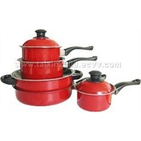 Non-stick milk pot and dutch pot with ferrous lid(TXG-863)