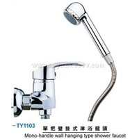 single handle wall hanging type shower faucet