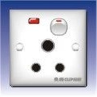 15a Round Foot Socket with Switch Lamp