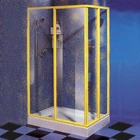 Shower with Rectangle Slide Door