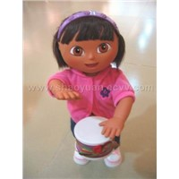 Playing Drum Doll,Music Doll,Doll,Pussy Cat Doll,Barbie Doll,Doll House