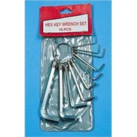10 Hex Key Set in PVC Pouch