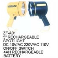 "5""RECHARGEABLE SPOTLIGHT"