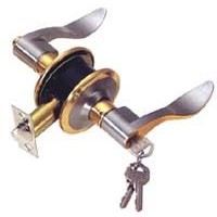 Cylindrical door lock with lever