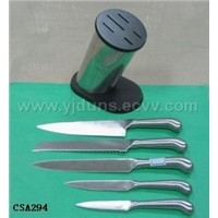 The Hollow Handle Knife Set with A S/S Block