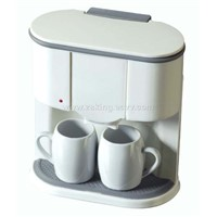 Twin cups coffee maker
