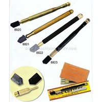 brass handle oil feed glass cutter(8820-24)
