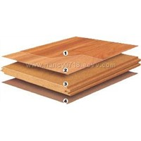 Laminated flooring with locking system