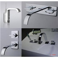 Contemporary and graceful waterfall shower mixer