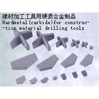 carbide for construction material drilling tools
