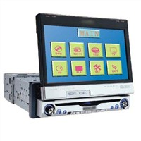 1 din All in One Car DVD 7' Touch Screen/FM/AM/TV