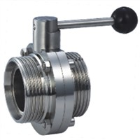 sanitary grade threaded butterfly valves