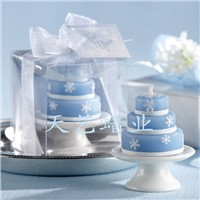 wedding gift of snow candle set