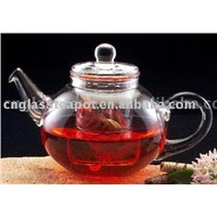 glass teapot with strainer (E07048)