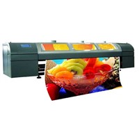 Large solvent printer 3.4m 6heads