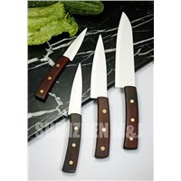 White Ceramic Kitchen Knives (Sandalwood Handles)