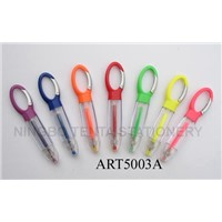 Gel Ink Pen with Colorful Carabiner