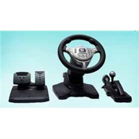 PS2/PS1/USB Real Force Feedback steering wheel