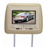 7 inch head-rest lcd monitor with DIVX/DVD/USB/SD/FM/IR transmitter