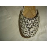 ladies khussa beaded khussa,leather chapal sandal