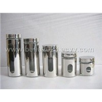 Stainless Steel Glass Canister