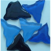 glass tile, glass mosaic tile (maple leaf)