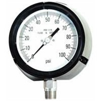 Safety process pressure gauge