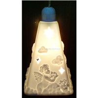 religious hanging ceramic lamp