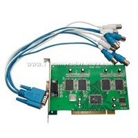 4 channel realtime Audio&video dvr card