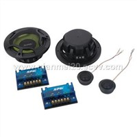 "6 1/2""2-Way Component Speaker System And 1""Tweeter"