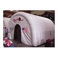 Inflatable tent arch
