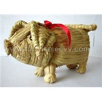 handmade straw animal